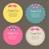 Design Retro Label, Frame, with Bow Vector Stock Images