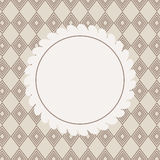Design Retro Label, Frame, with Bow Vector Royalty Free Stock Image