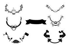 Design ribbon curve icon Stock Image