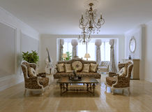 Design of rich living room Royalty Free Stock Photo