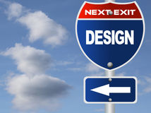 Design road sign Stock Photography