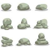 Design rock stone set element of vector Stock Image