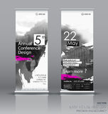 Design of a roll up vertical banner. With a watercolor brush effect. It can be used for street banners, posters, signs, flags, brochures and leaflets. vector vector illustration