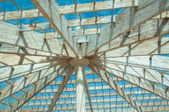 The design of the roof dome. stock photo