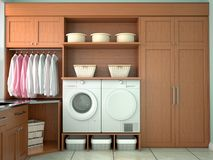 Design room for washing and cleaning. Royalty Free Stock Images