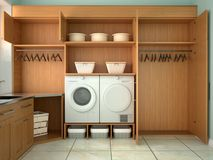 Design room for washing and cleaning. Royalty Free Stock Photo