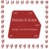 Design rounded polygons Stock Image