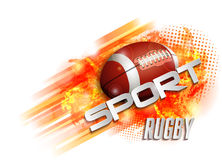 Design with rugby ball Royalty Free Stock Image