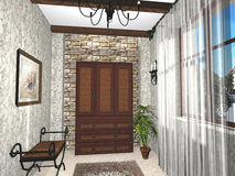 Design of rural house room. Design of small rural house room Stock Photography