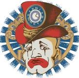 Design of sad clown. Avialib for t-short, bag, poster Royalty Free Stock Images