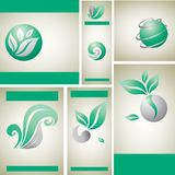 Design samples with leafs and nature Stock Image