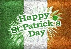 Design Schmutz-Art-glückliches St. Patricks Tages Stockfotografie
