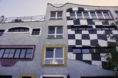 Design School in Germany by Hundertwasser. In Sachsen Anhalt Stock Photography