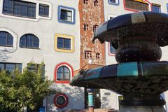 Design School in Germany by Hundertwasser. In Sachsen Anhalt Stock Images