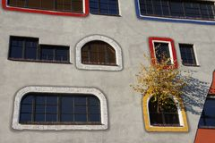 Design School in Germany by Hundertwasser. In Sachsen Anhalt Stock Photos