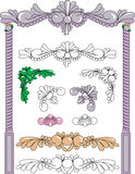 Design Scrolls. Borders Columns Corners weddings invitations Stock Image