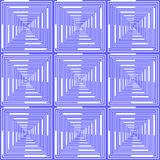 Design seamless blue checked pattern. Abstract geo Royalty Free Stock Image