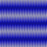 Design seamless blue horizontal knitted pattern. T Stock Photo