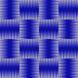 Design seamless blue knitted pattern Stock Image
