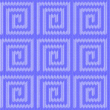 Design seamless blue labyrinth knitted pattern. Th Stock Images