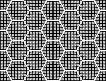 Design seamless checked hexagon pattern Royalty Free Stock Photography