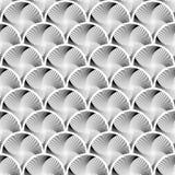 Design seamless circle striped geometric pattern Royalty Free Stock Image
