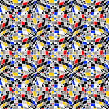 Design seamless colorful checked mosaic pattern Royalty Free Stock Photos