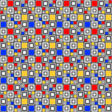 Design seamless colorful checked mosaic pattern Stock Photo