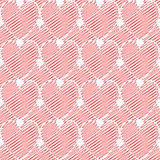 Design seamless colorful doodle heart pattern. Val Royalty Free Stock Images