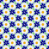 Design seamless colorful flower decorative pattern Stock Photos