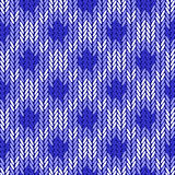 Design seamless colorful geometric knitted pattern Royalty Free Stock Photography