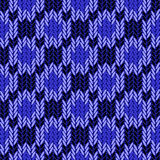 Design seamless colorful geometric knitted pattern Stock Photography