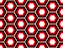 Design seamless colorful hexagon geometric pattern Stock Photos