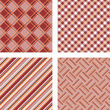 Design seamless colorful kitchen patterns set Stock Photography