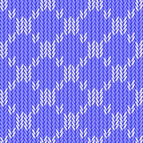 Design seamless colorful knitted geometric pattern Royalty Free Stock Photography