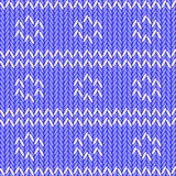 Design seamless colorful knitted pattern. Thread t Royalty Free Stock Image