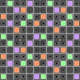 Design seamless colorful mosaic checked pattern Stock Image