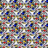 Design seamless colorful mosaic geometric pattern Stock Images