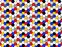 Design seamless colorful mosaic hexagon pattern Royalty Free Stock Image