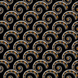 Design seamless colorful spiral geometric pattern Stock Image