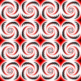 Design seamless colorful spiral geometric pattern Stock Photography
