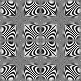 Design seamless cone illusion background Royalty Free Stock Photos