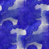 Design seamless dark blue,white watercolor texture Royalty Free Stock Photography