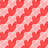 Design seamless doodle heart pattern. Valentines D Royalty Free Stock Photos