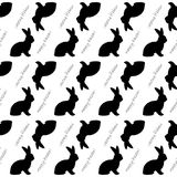 Design seamless Easter bunny rabbits pattern Royalty Free Stock Photos