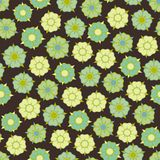 Design with seamless flowers pattern Royalty Free Stock Photos