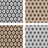 Design seamless hexagon pattern Royalty Free Stock Photos