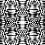 Design seamless illusion checkered pattern Stock Photos