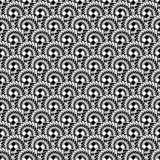 Design seamless monochrome abstract spiral diagonal pattern Royalty Free Stock Images