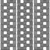 Design seamless monochrome chain pattern Stock Photography